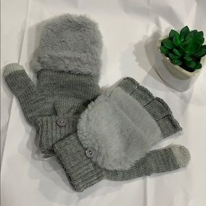 Convertible Half-Finger Gloves to Mittens!